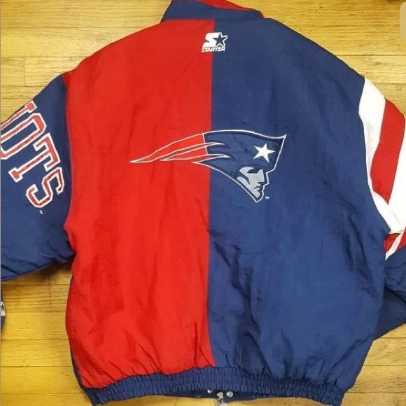 online retailer 46d43 537be Vintage Patriots Jacket by Starter